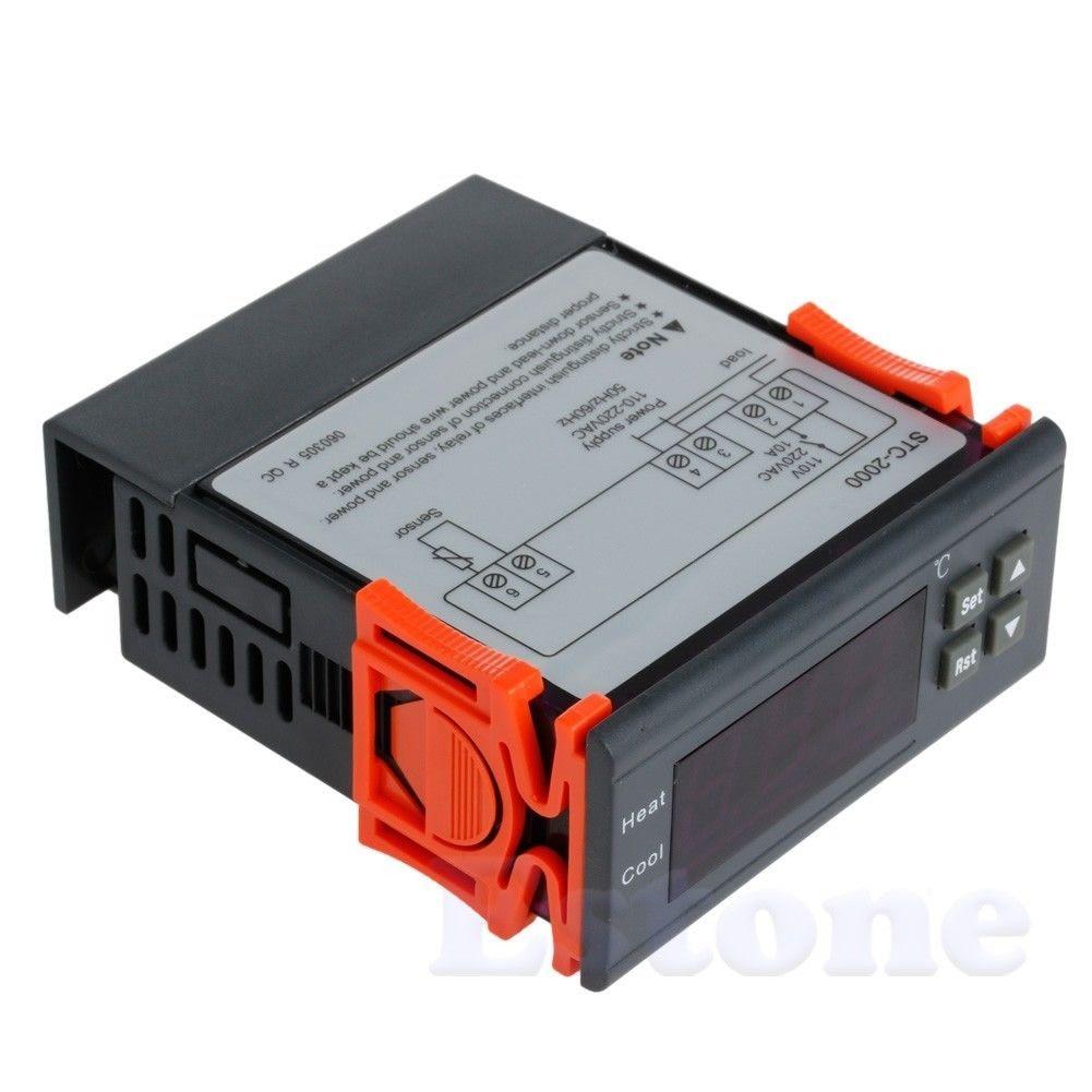 STC-2000 220 V-55 ~ 120 centígrados Termopar Controlador de Temperatura Digital com Sensor