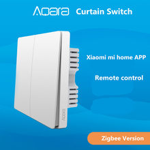 xiaomi Aqara Curtain Switch , Zigbee Version Wall Switch Via Smarphone APP Remote Control By Xiaomi smart home kit(China)