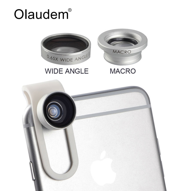 0.65X Wide Angle lens + Macro lens Clip-on Universal Mobile Phone Camera Lenses For iPhone iPad Samsung Sony HTC LG Xiaomi CL588