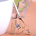Blucome Comb Scissors Brooch Hat Collar Clips Bijoux Austrian Crystal Hijab Pins Up Brooches For Wedding Dress 2017 Fine Jewelry