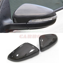 for Volkswagen VW Golf 6 GTI R20 MK6 Carbon Fiber Mirror Cover Rear View 2008 2009 2010 2011 2012 Replacement & Add on Style