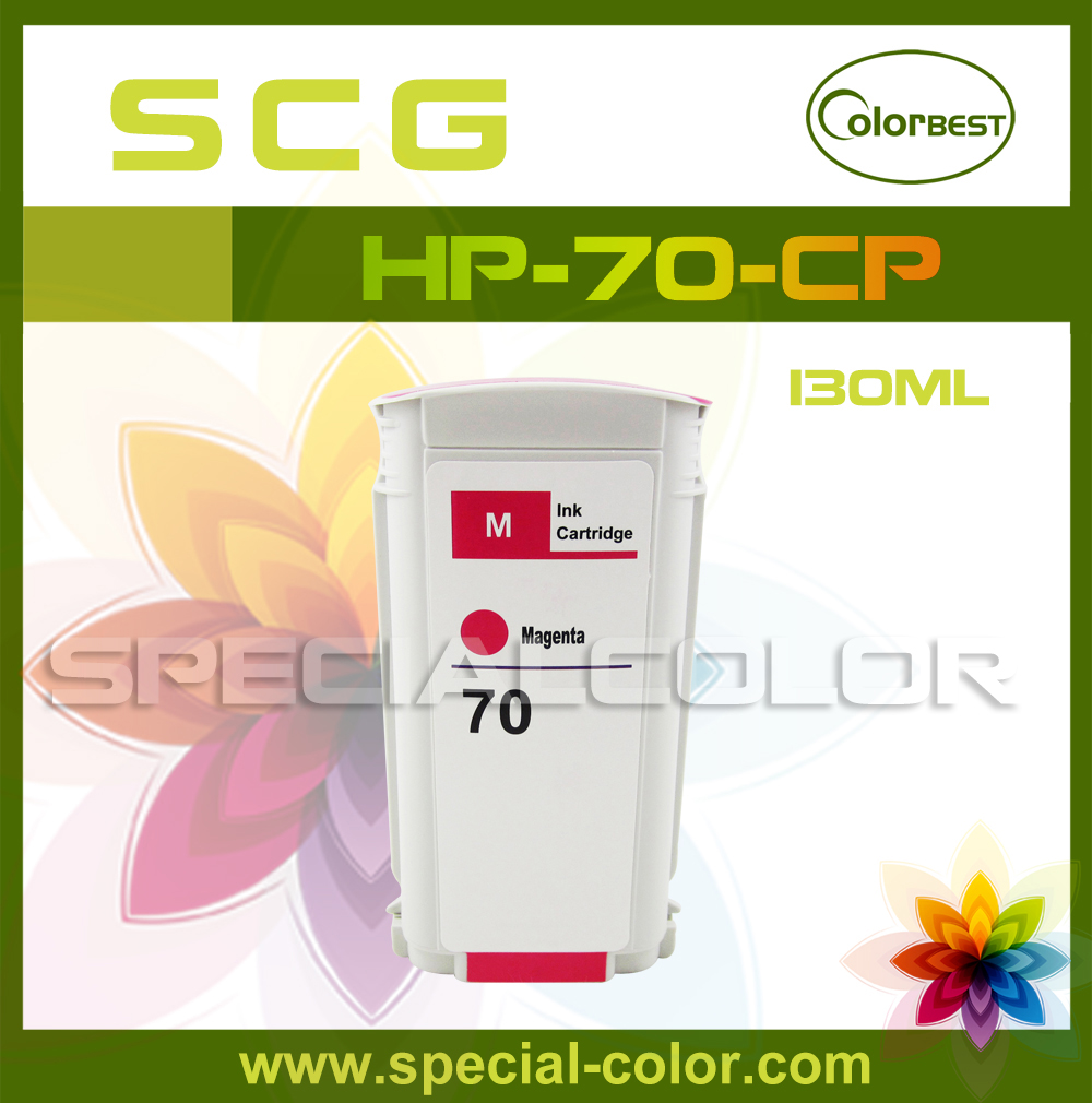ФОТО Factory Supplying 130ml Pigment Ink Cartridge for HP2100/3100/HP-72 Ink Tank with Chip (color M)