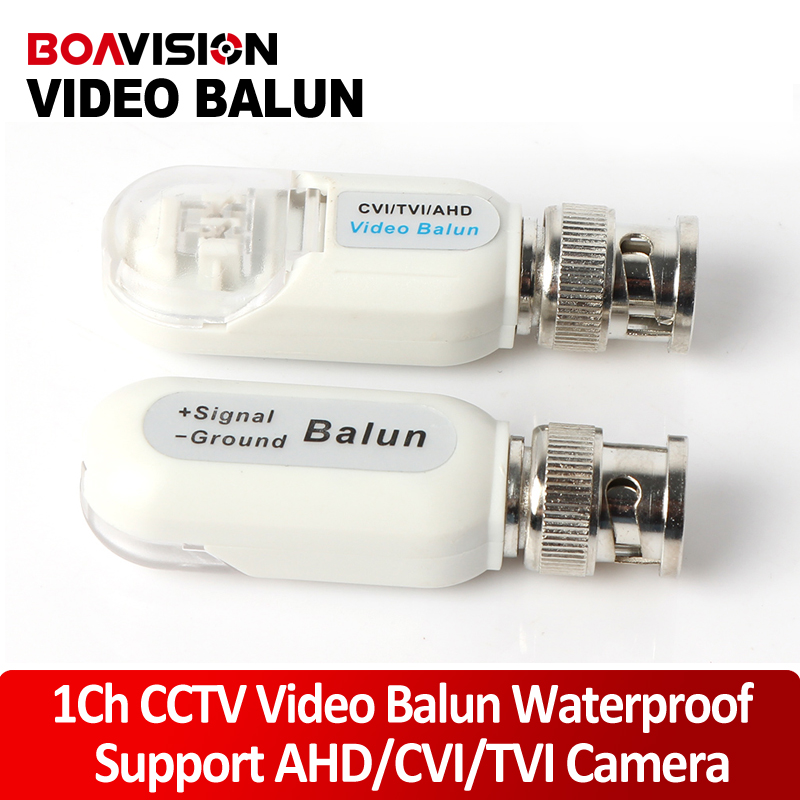 HD BNC To UTP Cat5/5e/6 Video Balun HD Transceivers Adapter Transmitter Support 720P/1080P,AHD/CVI/TVI Camera Waterproof Housing 5pairs video balun transceiver bnc utp rj45 video balun and power over cat5 5e 6 cable for cvi tvi ahd 720p camera up to 300m