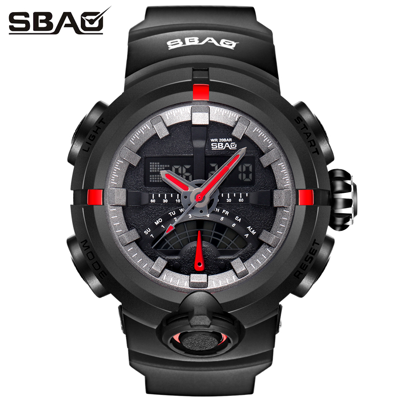 SBAO Brand Mens Electronic Watches Boy Sport Watch Male Digital Wristwatch Multi-Function Men Military watches Relogio Masculino sbao sport military wrist watch men top brand luxury electronic wristwatch led digital watches for male clock relogio masculino