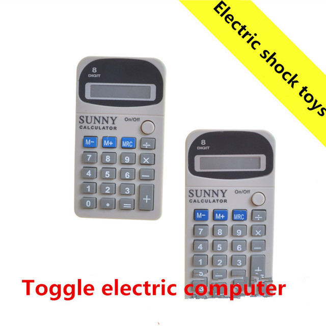 US $6 2 |Electric shock toy electric shock calculator whole people  foolishness creative insurgent funny spoof funny birthday gift-in Gags &  Practical
