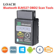 Advanced Smart OBD 2 II Diagnostic Scan Tool Mini ELM327 HH Car OBD2 CAN BUS Scanner Bluetooth OBDII Intelligent Chip Android PC(China)