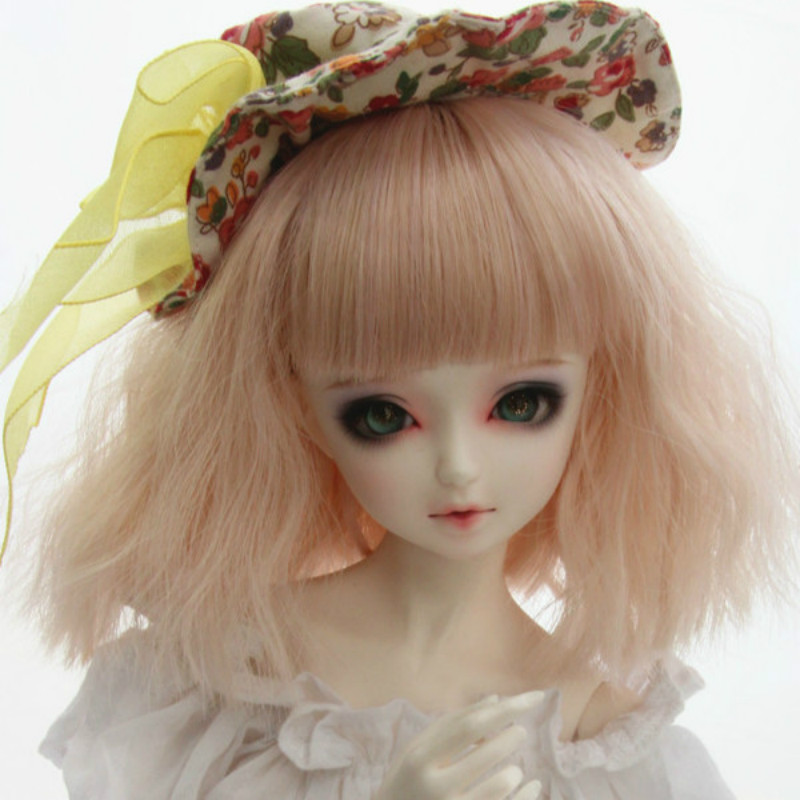 1/3 Bjd Dd Sd Doll Wig Liu Qi Hair Bare Pink Lotus Root Starch Noodles Tacos Short Hair Keep You Fit All The Time