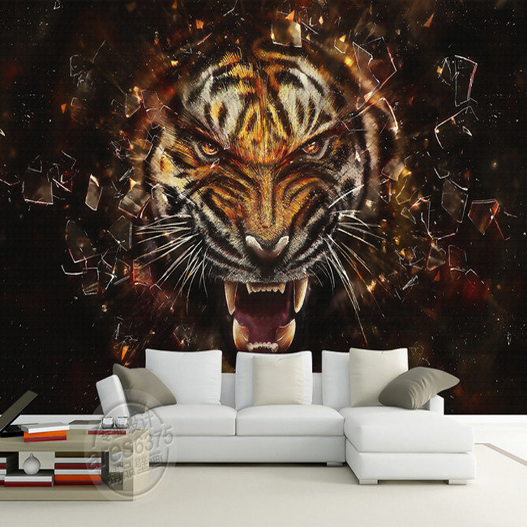 Large Tiger Animal 8D Papel Mural 3d Wall Photo Murals Wallpaper for Bedroom Living Room 3d Wall Mural 3d Wall paper sea world 3d wallpaper murals for living room bedroom photo print wallpapers 3 d wall paper papier modern wall coverings