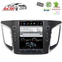 Тесла Стиль android автомобилей радио для hyundai ix25 Creta gps Мультимедиа Bluetooth Радио WI FI 4G вертикальной стерео AUX Сенсорный экран HD