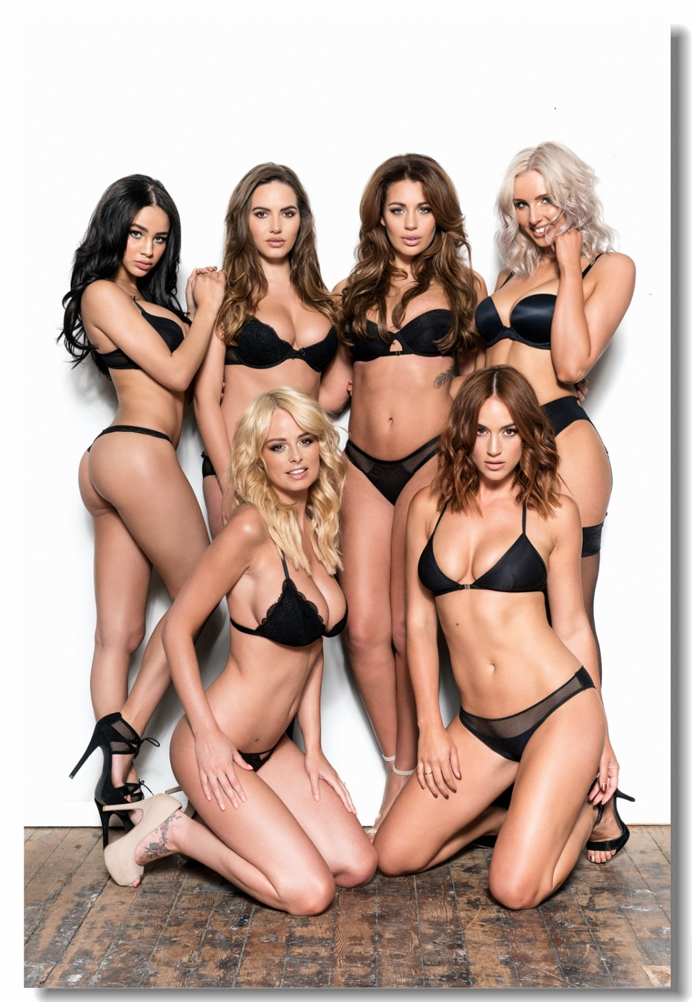 Custom Canvas Wall Decals Sexy Girls Holly Peers Rosie Jones Poster Rhian Sugden Wall Stickers Leighton Meester Wallpaper #0047#