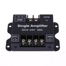 Colorido RGB LED Dimmer DC5-24V 30A Controlador de Repetidor de Señal Amplificador de Potencia de 1 Canales Dimmer Led