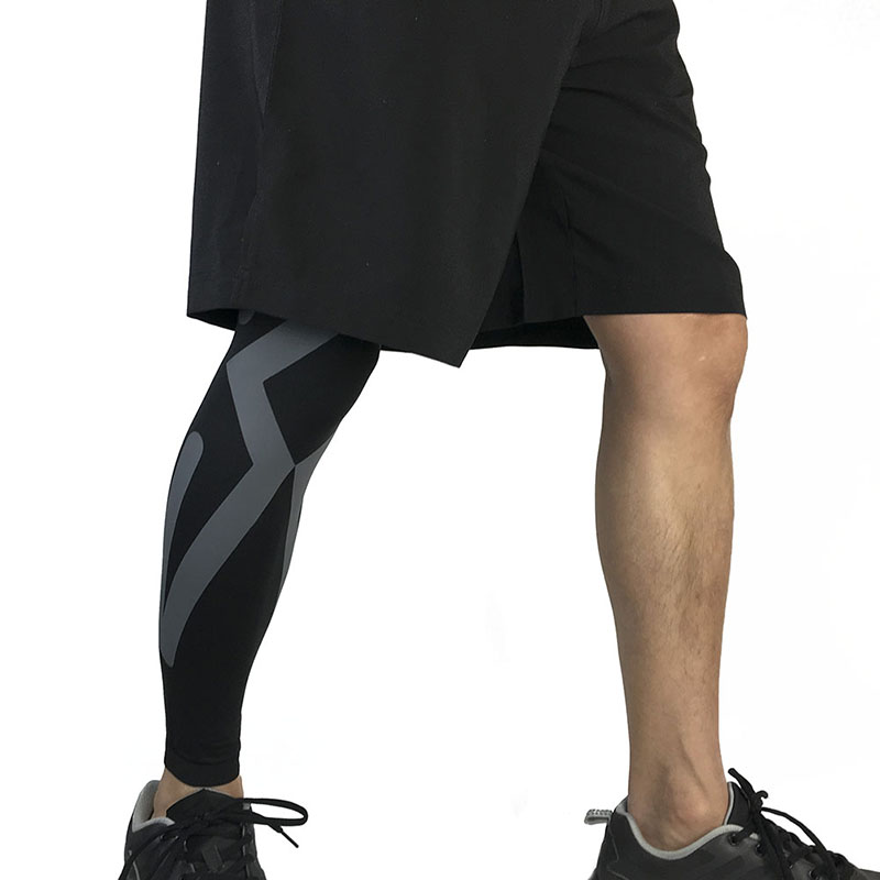 Men Womens Breathable Sports Protectors Compression Calf Sleeve Fitness Football Running Knee Supports For Outdoor