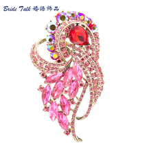 Rhinestone Brooches Women Jewelry Wedding Clear Violet Flower Brooch Broach Pin Birdal Brooch Crystal Free Shipping 8 Color 4243