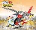 89 pçs/set Helicópteros de Construção Da Cidade Blocos de Construção de Tijolos Brinquedos para As Crianças Crianças Blocos Compatíveis com Legoes Fogo Helicopt