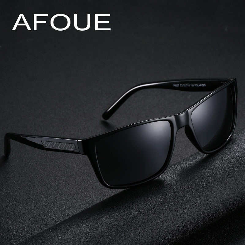 AFOUE Sunglasses Men Classic Carbon Fiber Polarized Fishing Glasses For Man Polaroid Lens Brand Pilot Eyewear Coulos Masculino