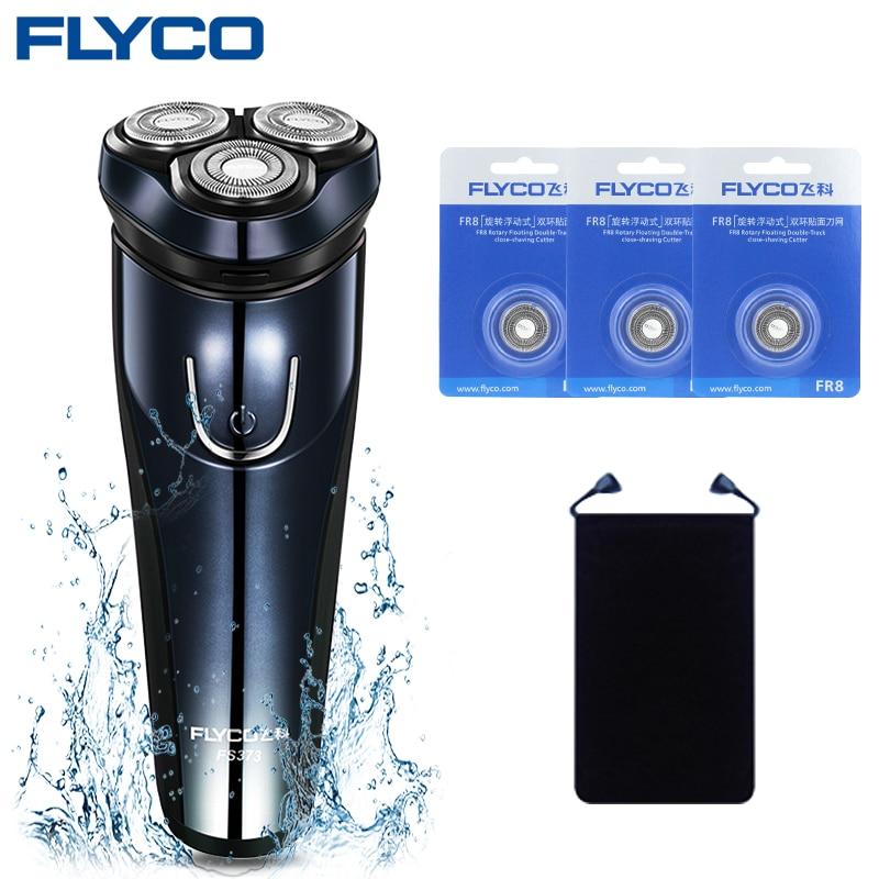 Flyco Shaver Electric Men s Razor Shaver Regola Barba Elettrico Depilador a  Laser Alat Cukur Rambut Electric FS373 - C Blade 66875bbd89