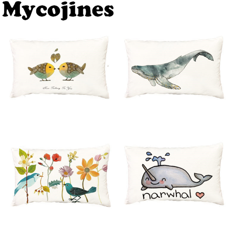 Home & Garden Cushion Cover Professional Sale Selling Cartoon Cushion Covers 45*45cm 30*50cm Narwhal Donut 1 Printing Car Seat Bedroom Sofa Home Decoration Throw Pillow Cases