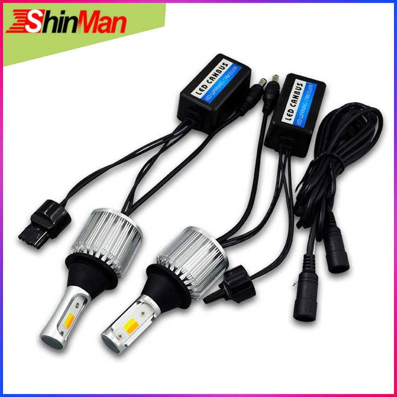 ShinMan WY21W 7440 T20 led CAR COB daytime running lights led daylight DRL Turn light Turn Signal light For Subaru Outback light