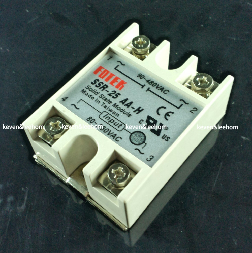 solid state relay SSR-25AA-H 25A actually 80-250V AC TO 90-480V AC SSR 25AA H relay solid state Resistance Regulator ssr 80aa ac output solid state relays 90 280v ac to 24 480v ac single phase solid relay module rele 12v 80a ks1 80aa