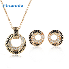 Pinannie Champagne Gold Color Vintage Jewellery Bohemia Necklace Sets Earings Fashion Jewelry Sets for Women