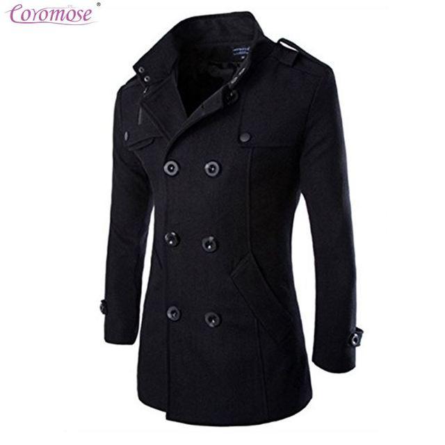 Coromose Wool Blends Suit Design Coat Men S Casual Slim Fit Double Ted Office