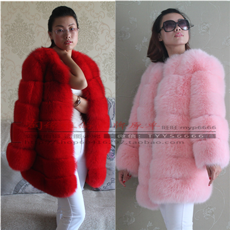 Ladies Genuine Luxury Fox Fur Jacket Coat Winter women real fox fur coat Short thick cloth winter coats