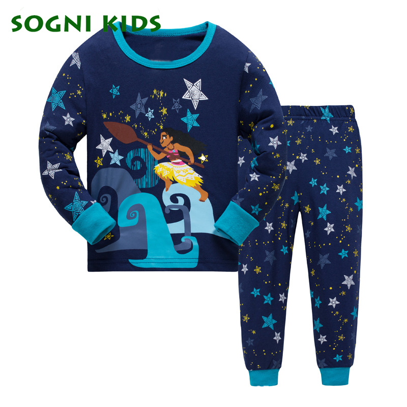 2-7Y Baby Girls Boys Clothing Set Children Pajamas Pyjamas Nightwear for Cotton 2018 Clothes Toddler Long Sleeve Kids Sleepwear