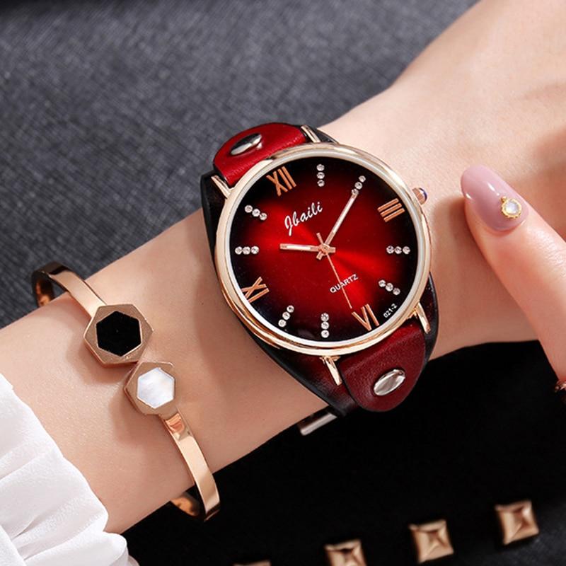JBAILI Ladies Watches Women Watch 2019 Wristwatch Clock Women Top Luxury Diamond Quartz Fashion Leather Strap Wrist.