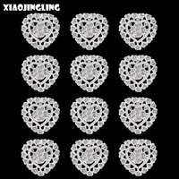 XIAOJINGLING 12Pcs Wholesale Brooches Pins Heart Jewelry Fashion Women Brooches Anniversary Party Gifts Dress Accessories Brooch