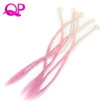 Qp الشعر 24 بوصة متوسط طول أومبير 5 فروع من حزمة جوفاء المجدل مطوية لينة الكروشيه kanekalon الاصطناعية الشعر