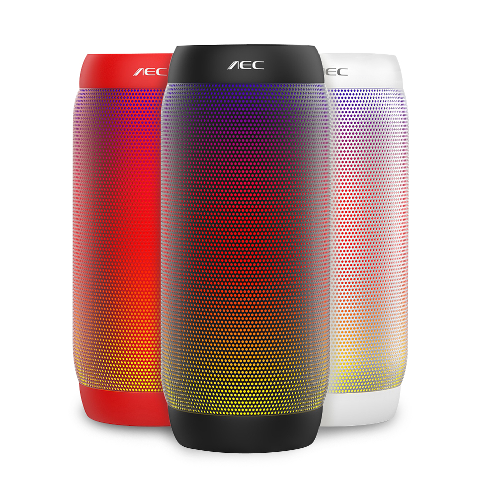 AEC Colorful LED Light Portable Bluetooth Wireless Speaker Stereo Outdoor NFC Mini Bicycle 10W Bass Subwoofer for JBL Speakers