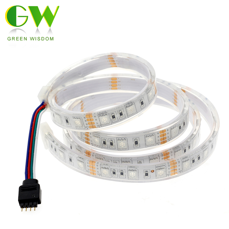 DC12V LED Strip 5050 IP68 Waterproof 60LED/M White Warm White RGB For Underwater For Swimming Pool,Fish Tank,Bathroom