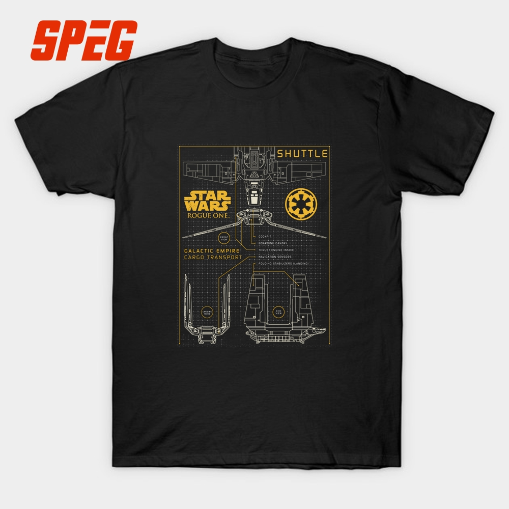 Star Wars Summer Style Cool Shirts Cargo TranSport Schema Youth Cotton Tee Shirt New Europe And American Male T Shirt Creator