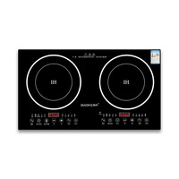 Double Pot Embedded Dual Cooker Electric Built in Induction Hobs Ceramic Furnace Induction Cooker Pot Intelligent Home Hotpot