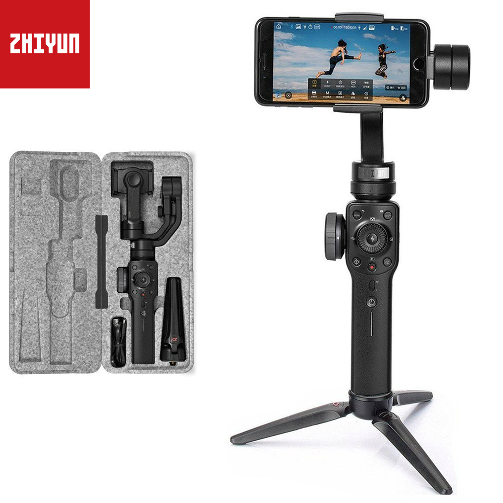 ZHIYUN Smooth 4 Handheld 3 Axis Gimbal Stabilizer for Smartphone Like iPhone x 8 7 Plus Samsung Gopro hero 6 5 session smooth q zhiyun smooth q 3 axis handheld gimbal stabilizer for smartphone