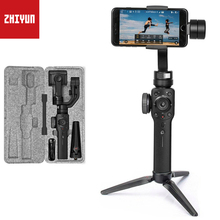 ZHIYUN гладкой 4 ручной 3 оси Gimbal стабилизатор для смартфона iPhone x 8 7 Plus samsung Gopro hero 6 5 сеанс гладкой q