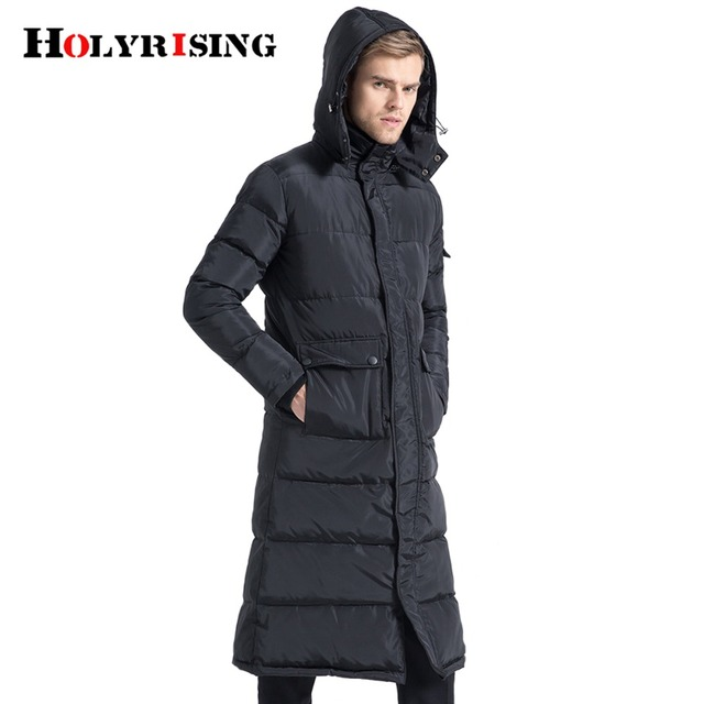464ee3f91fb US $83.48 49% OFF|Holyrising Men Down Jackets Long Homme Coat Thicken Snow  Down Coats Hooded Warm Man Clothing Black Streetwear Szie S 4XL 18481 5-in  ...
