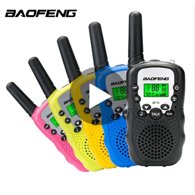 2 PCS Baofeng BF T3 Mini Children Walkie Talkie Two Way Ham UHF Radio Station Transceiver Boafeng PMR 446 PMR446 Amador Handheld