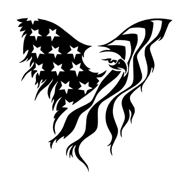 car stying 15 15cm fashion personality of the american flying eagle clipart eagle clipart black and white