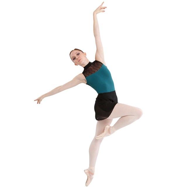 5b7ce9d487 Verde jovem menina ballet Dancewear Ballet Collant de ginástica collant  terno de ginástica balé roupas de