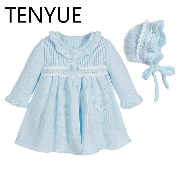 TENYUE, 2018 Children's Dress Princess Children's Exploding Style Pure Cotton European& American Pure Color Knitted Girl Dress simple style ceiling light wooden porch lamp square ceiling lamp modern single head decorative lamp for balcony corridor study