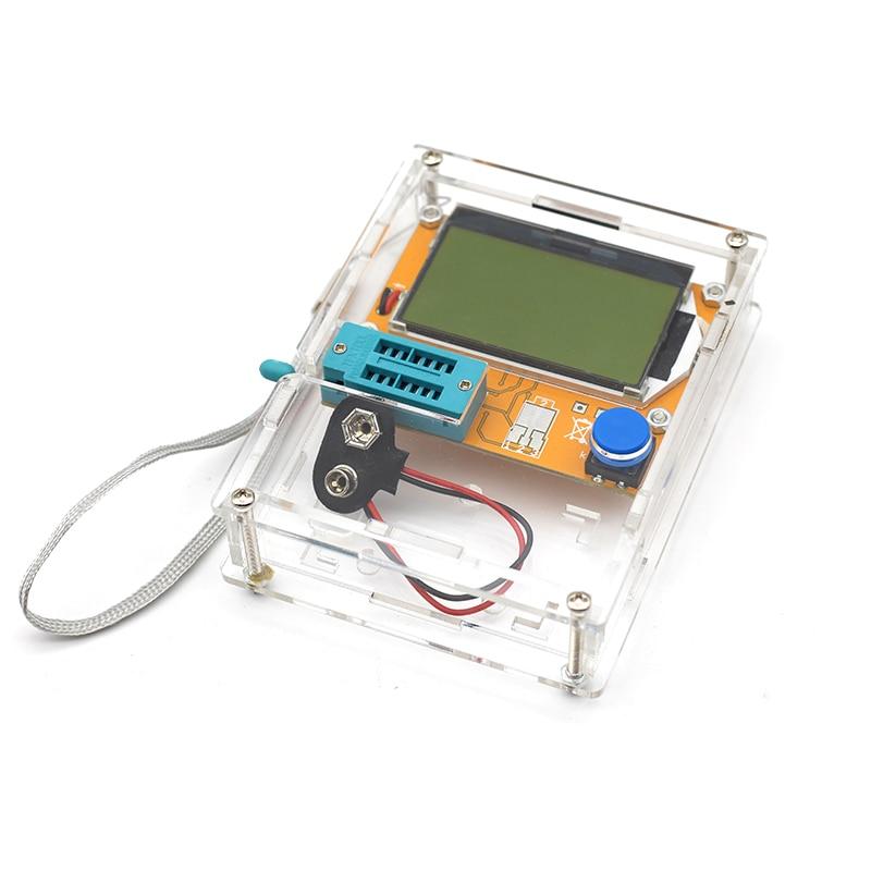2018 Latest LCR-T4 ESR Meter Transistor Tester Diode Triode Capacitance Mos Mega328 Transistor Tester + CASE (not Battery ) цена