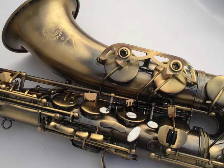 High quality French Selmer 54 B flat tenor saxophone shipping antique copper Simulation tenor saxophone Musical instruments selmer of france b flat tenor sax instruments shipping professional performance suitable for beginners