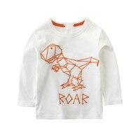 2017 Special Offer Cotton Full Character Regular O Neck New Autumn Children Shirt Boy Sleeved T