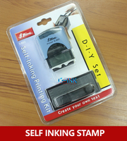 Business DIY Self Inking Stamp Alphabet Office Self Inking Rubber Stamp Set