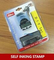 Business DIY Self Inking Stamp Alphabet Office Self Inking Rubber Stamp Set