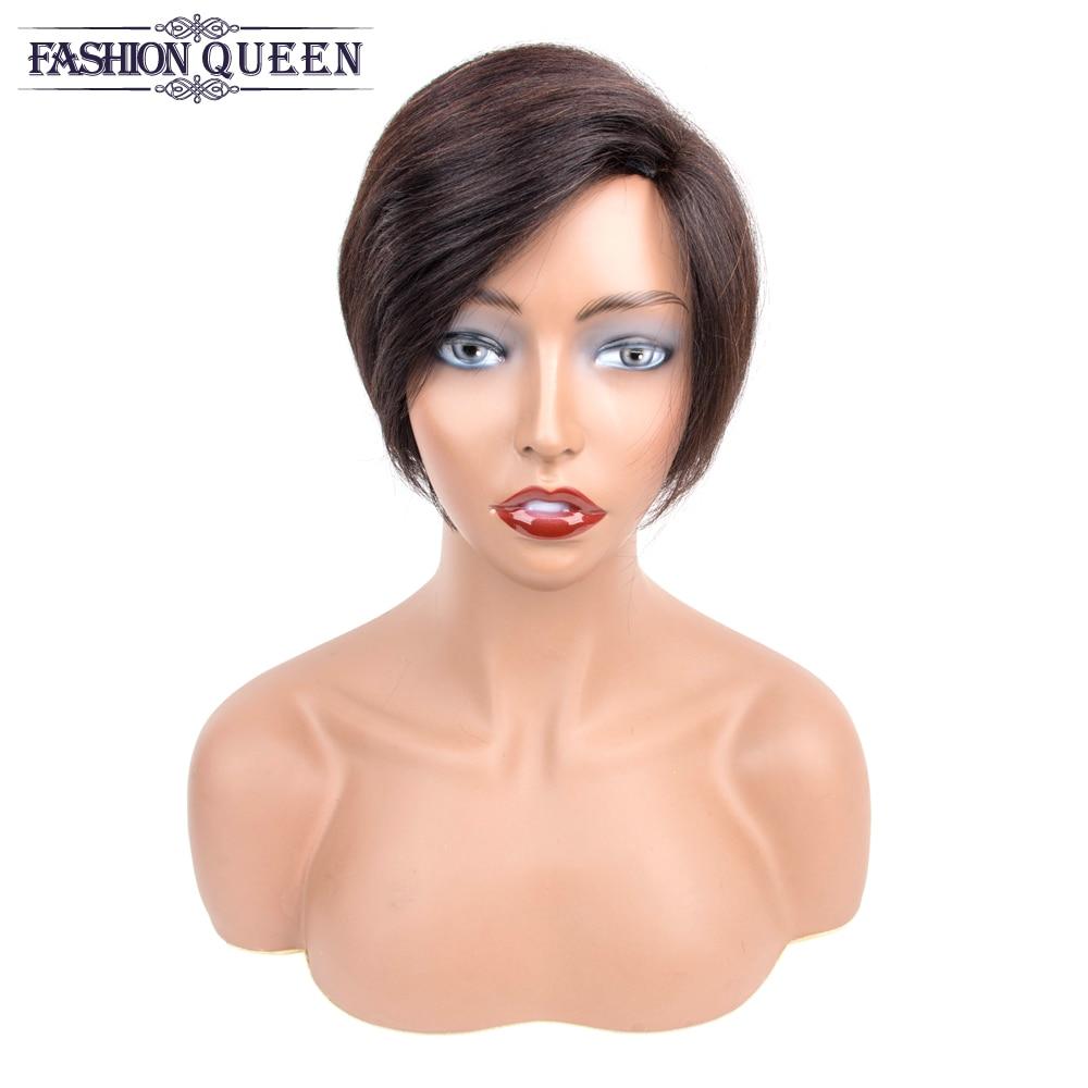 Perruques de cheveux humains courtes perruques de cheveux humains perruque courte Bob perruque pour les femmes noires Remy brésilien Kris cheveux couleur naturelle 0755