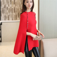 Korean Version Of The New Autumn Women S Long Section Of The Buttoned Cape Corset Beaded