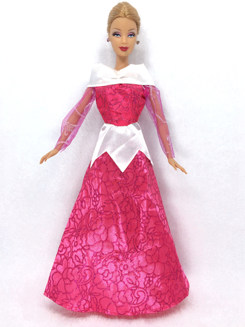 NK One Set Doll Dress Similar Fairy Tale Princess Aurora Wedding Gown Party Outfit For