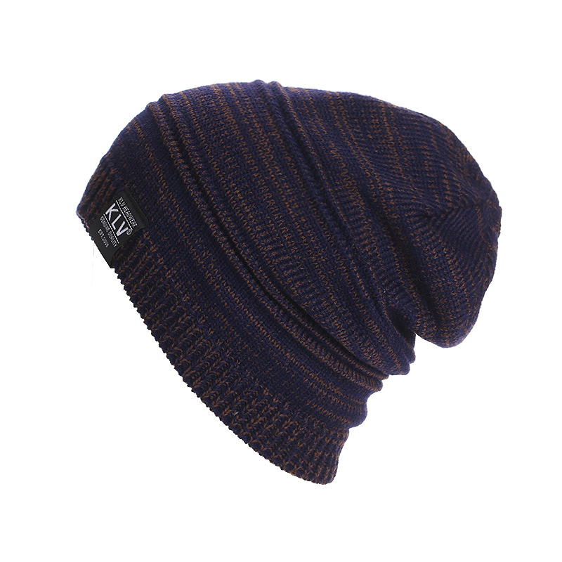 New Brand KLV Beanies Double color knitted Winter Caps Skullies Winter Hats For men women Outdoor Ski Sports Beanie Gorras Touca